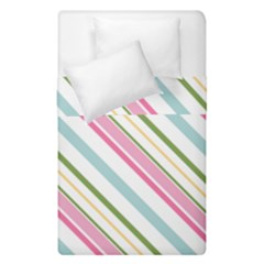 Diagonal Stripes Color Rainbow Pink Green Red Blue Duvet Cover Double Side (single Size) by Mariart