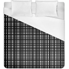 Crosshatch Target Line Black Duvet Cover (king Size) by Mariart
