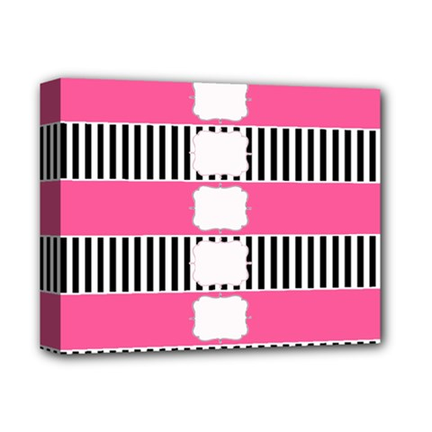 Custom Water Bottle Labels Line Black Pink Deluxe Canvas 14  X 11  by Mariart