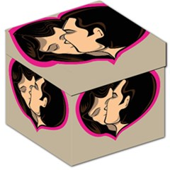 Don t Kiss With A Bloody Nose Face Man Girl Love Storage Stool 12   by Mariart