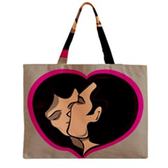 Don t Kiss With A Bloody Nose Face Man Girl Love Medium Tote Bag by Mariart