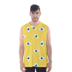 Eye Blue White Yellow Monster Sexy Image Men s Basketball Tank Top by Mariart