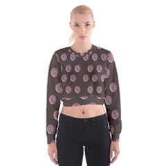 Donuts Women s Cropped Sweatshirt by Mariart