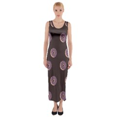 Donuts Fitted Maxi Dress by Mariart