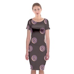 Donuts Classic Short Sleeve Midi Dress by Mariart