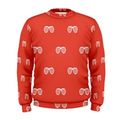 Glasses Disco Retina Red White Line Men s Sweatshirt by Mariart