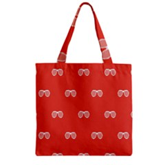 Glasses Disco Retina Red White Line Zipper Grocery Tote Bag by Mariart