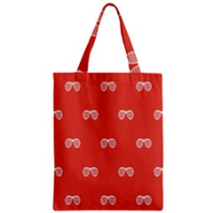 Glasses Disco Retina Red White Line Zipper Classic Tote Bag by Mariart