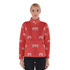 Glasses Disco Retina Red White Line Winterwear by Mariart