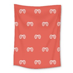 Glasses Disco Retina Red White Line Medium Tapestry by Mariart