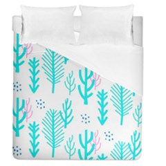 Forest Drop Blue Pink Polka Circle Duvet Cover (queen Size) by Mariart