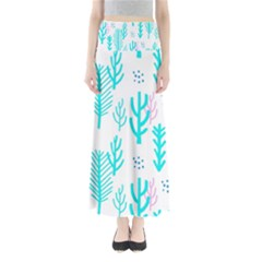 Forest Drop Blue Pink Polka Circle Maxi Skirts by Mariart
