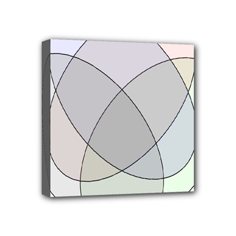 Four Way Venn Diagram Circle Mini Canvas 4  X 4  by Mariart