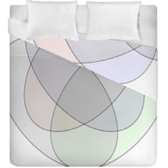 Four Way Venn Diagram Circle Duvet Cover Double Side (king Size) by Mariart