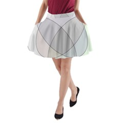 Four Way Venn Diagram Circle A Line Pocket Skirt by Mariart