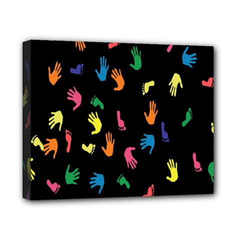 Hand And Footprints Canvas 10  X 8  by Mariart