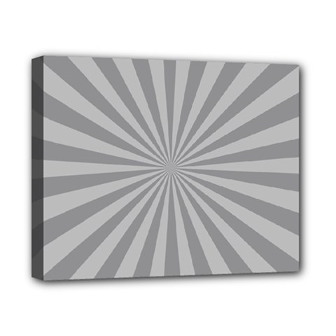 Grey Starburst Line Light Canvas 10  X 8  by Mariart