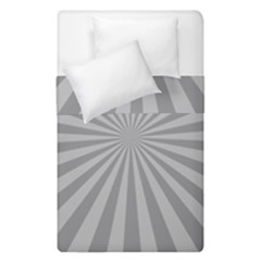 Grey Starburst Line Light Duvet Cover Double Side (single Size) by Mariart