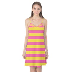 Horizontal Pink Yellow Line Camis Nightgown by Mariart