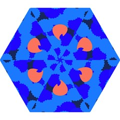 Image Orange Blue Sign Black Spot Polka Mini Folding Umbrellas by Mariart