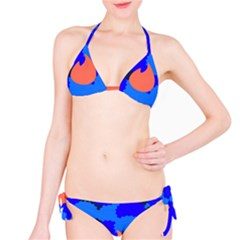 Image Orange Blue Sign Black Spot Polka Bikini Set by Mariart