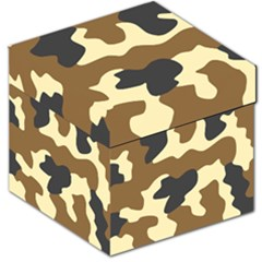 Initial Camouflage Camo Netting Brown Black Storage Stool 12   by Mariart