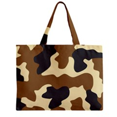 Initial Camouflage Camo Netting Brown Black Zipper Mini Tote Bag by Mariart