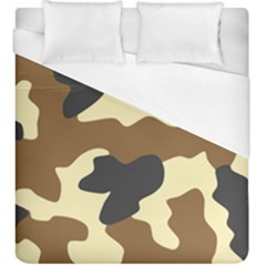 Initial Camouflage Camo Netting Brown Black Duvet Cover (king Size) by Mariart