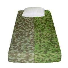 Camo Pack Initial Camouflage Fitted Sheet (single Size) by Mariart