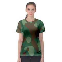Initial Camouflage Como Green Brown Women s Sport Mesh Tee by Mariart