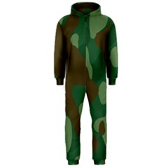 Initial Camouflage Como Green Brown Hooded Jumpsuit (men)  by Mariart