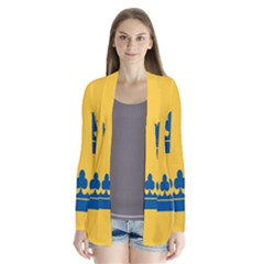 King Queen Crown Blue Yellow Cardigans by Mariart