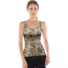 Initial Camouflage Brown Tank Top by Mariart