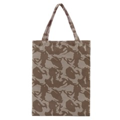 Initial Camouflage Brown Classic Tote Bag by Mariart