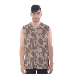 Initial Camouflage Brown Men s Basketball Tank Top