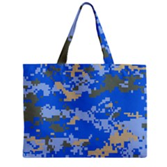Oceanic Camouflage Blue Grey Map Zipper Mini Tote Bag by Mariart