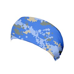 Oceanic Camouflage Blue Grey Map Yoga Headband by Mariart