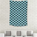 Polka Dot Blue Black Small Tapestry View2