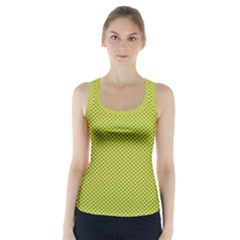 Polka Dot Green Yellow Racer Back Sports Top