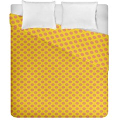 Polka Dot Orange Yellow Duvet Cover Double Side (california King Size) by Mariart