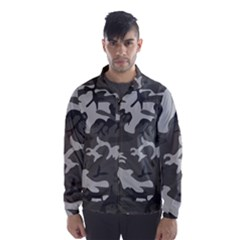 Initial Camouflage Grey Wind Breaker (men) by Mariart