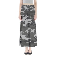 Initial Camouflage Grey Maxi Skirts by Mariart