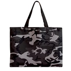 Initial Camouflage Grey Medium Tote Bag by Mariart