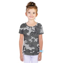 Initial Camouflage Grey Kids  One Piece Tee
