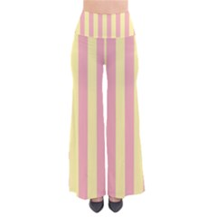 Pink Yellow Stripes Line Pants by Mariart