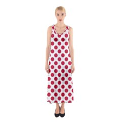 Polka Dot Red White Sleeveless Maxi Dress by Mariart