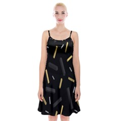 Rectangle Chalks Spaghetti Strap Velvet Dress by Mariart