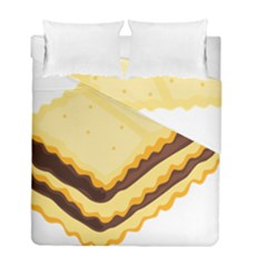 Sandwich Biscuit Chocolate Bread Duvet Cover Double Side (full/ Double Size) by Mariart
