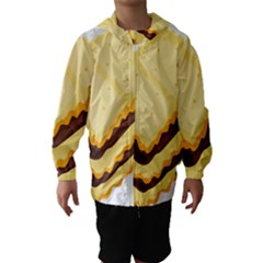 Sandwich Biscuit Chocolate Bread Hooded Wind Breaker (kids) by Mariart