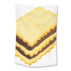 Sandwich Biscuit Chocolate Bread Small Tapestry by Mariart